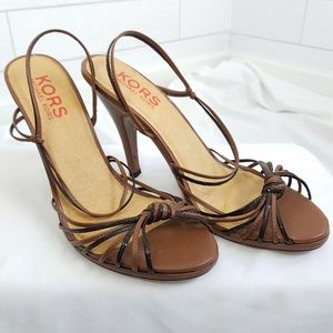 Michael Kors Strappy Sandals Brown Size 10 heels